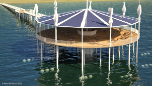Rendering Pontile a mare ecologico