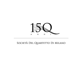 150th Logo - Quartetto Di Milano
